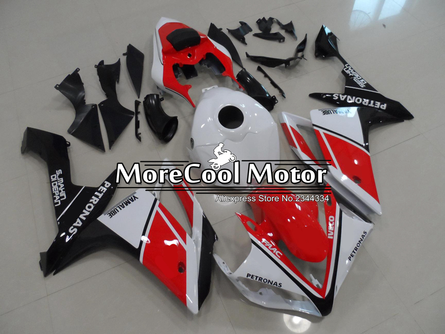 Aftermarket Motorcycle R1 YZF 2007 Fairing Kits For Yamaha Red & Black & White UV Painting Job YZF R1 2009 Years Fairings Body free shipping blue white black aftermarket oem fitment kits for yamaha r1 2002