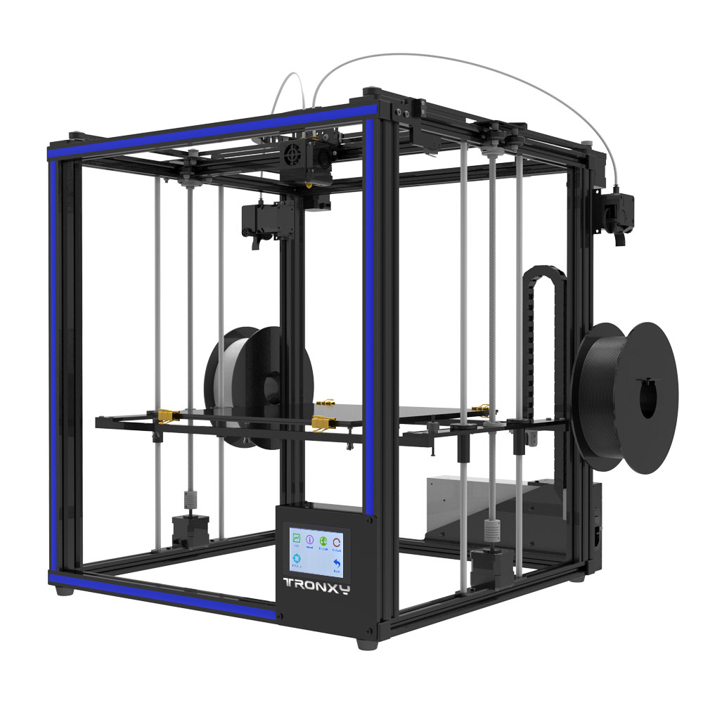 הכי חדש Tronxy X5ST-500-2E גדול יותר 3D מדפסת 2 ב 1 מתוך כפול צבע מכבש קיקלופ יחיד ראש