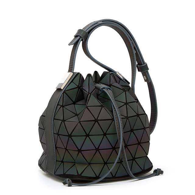 Luminous Geometric Design Women's Bucket Backpack