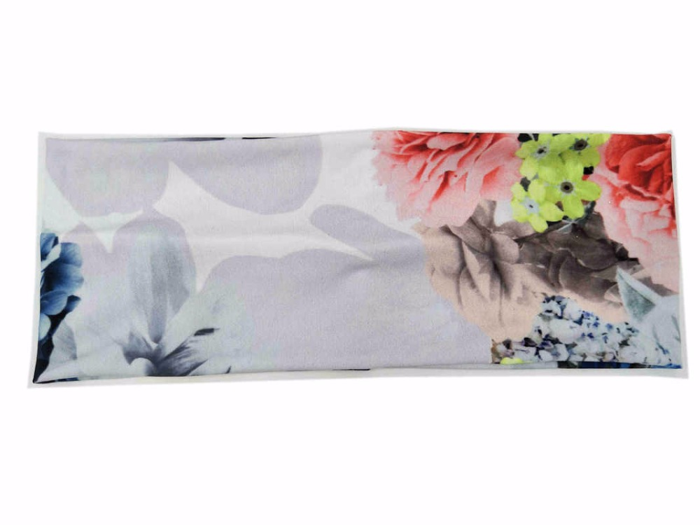 P181017 2018 Newest good stretch cotton fashion Chinese painting printing charming and comfortable plain hair band
