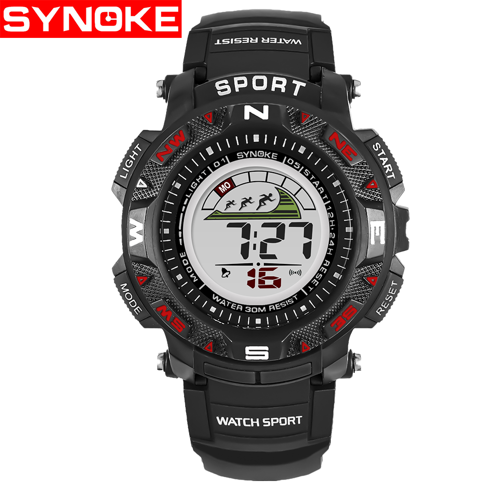 Synoke Children Led Watches Back Light Sport Kids Digital Multifunction Temperature Humidity Meter With Clock Alarm Date Week Calender Htc 2 Wristwatches 30m Waterproof Calendar Watch