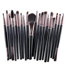 Makeup Set Powder Foundation Eyeshadow Eyeliner Lip Cosmetic Brushes 20 Pcs 12 Colors
