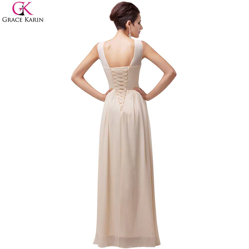 0e77f48c9729 Grace Karin Women Long Evening Dresses A line Summer Formal Party Dress  Evening Gowns Wedding Mother of the Bride Dress-in Evening Dresses from  Weddings ...