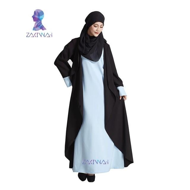 e8c5d404a2 New Fashion Black Women Sleeves Muslim Dress Kaftans Plus Size Dubai ...