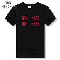 Gamers t-shirts volledige DEFENSIE AANVAL nummer geek t-shirts eenvoudige ontwerp voor game spelers ac503