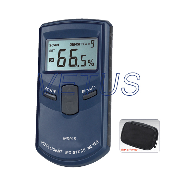 MD918 4%~80% electromagnetic waves Inductive Wood Moisture Meter multifunctional inductive moisture meter for wood tobacco cotton paper building soil and other fibre materials 0 80%