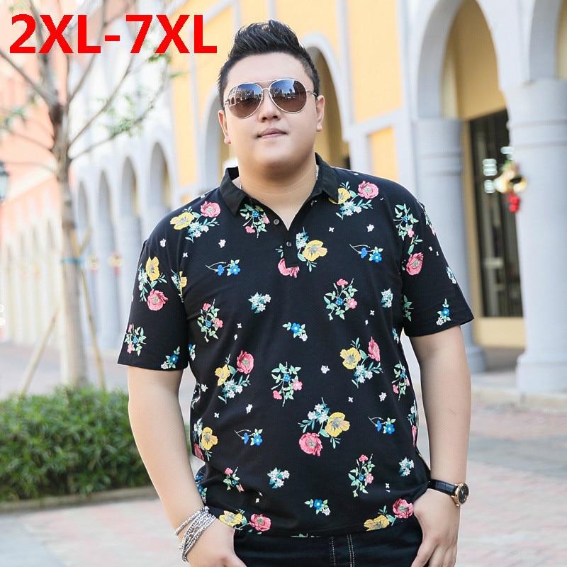 Fashion Mens   Polo   Ralphmen Pol Shirt   Polo   Summer Brand Cotton Palace Lapel Short Sleeves 2019 New Plus Size 9XL 8XL 7XL 6XL 5XL