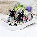 2016 Цветочные холст обувь высокого качества для женщин обувь на толстой подошве сдобы Корейских приливных обувь a099
