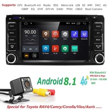 Autoradio 2 din Android 8.1 Car DVD Multimedia Player For Toyota Land cruise 100 200 prado120 150 RAV4 COROLLA Camry yaris Hilux