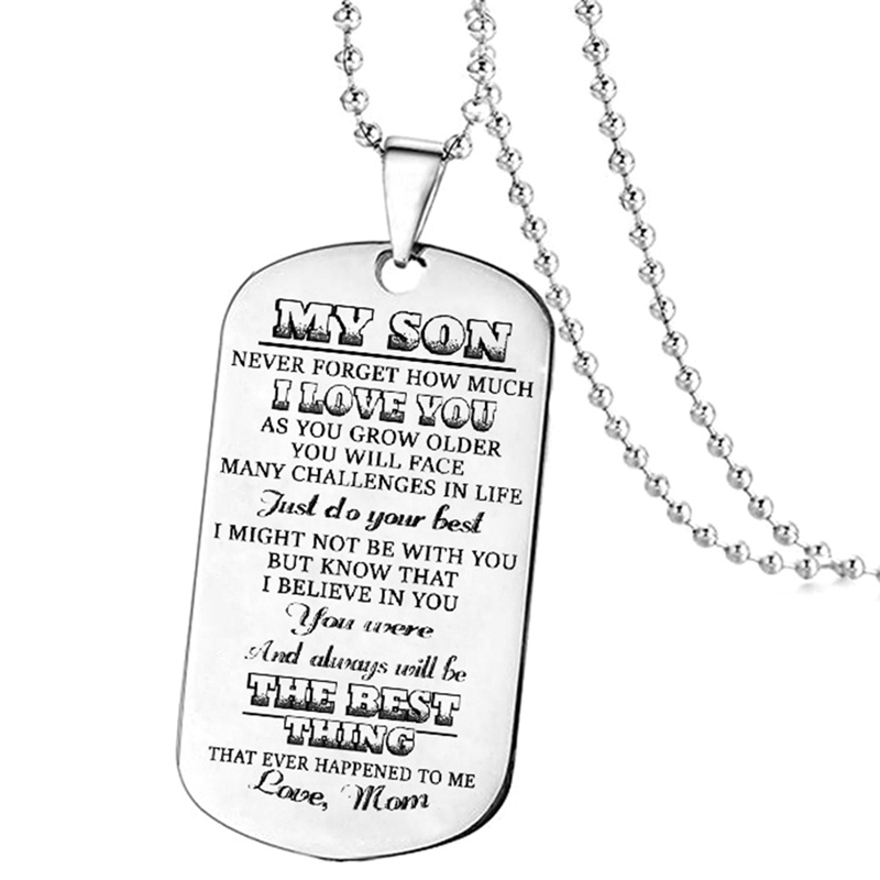 Detail Feedback Questions About New Stainless Steel Dog Tags Pendant