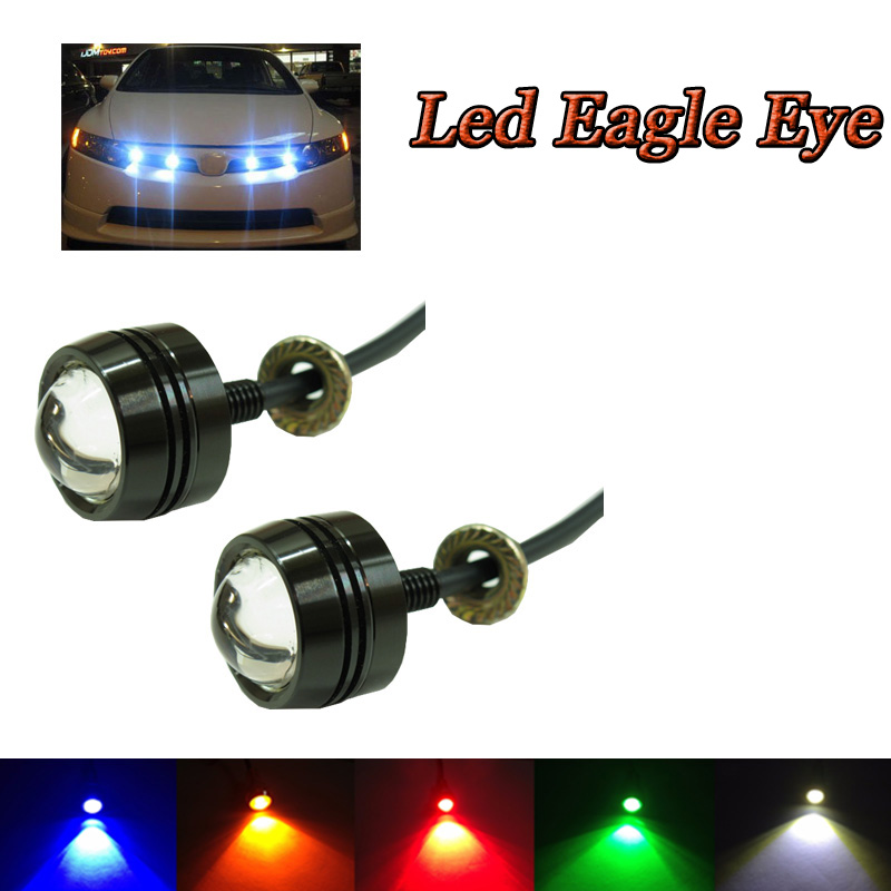 Universal Motorcycle LED Eagle Eye Lights License Plate Light Waterproof For SUV