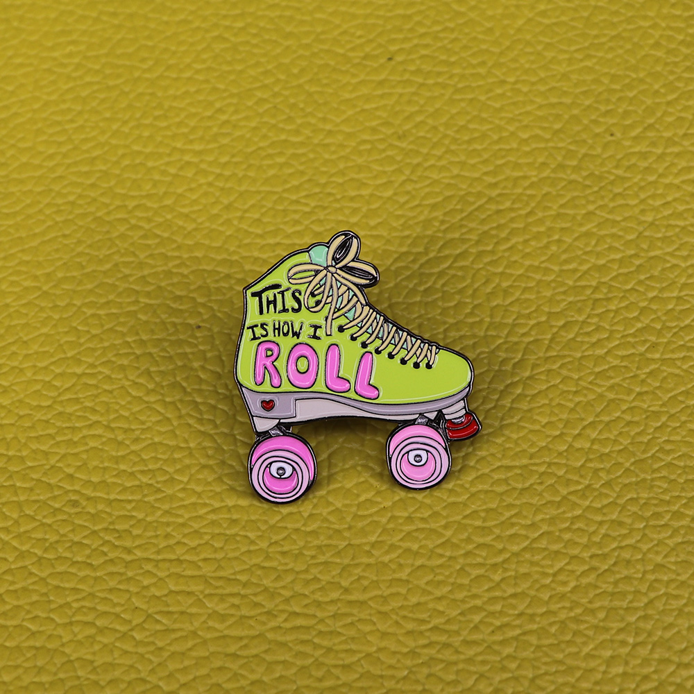 Hard-Working Roller Skates Lapel Pin Badges For Clothes Skating Shoes Rozety Papierowe Icon Backpack 1pcs Xy0326 Badges Apparel Sewing & Fabric