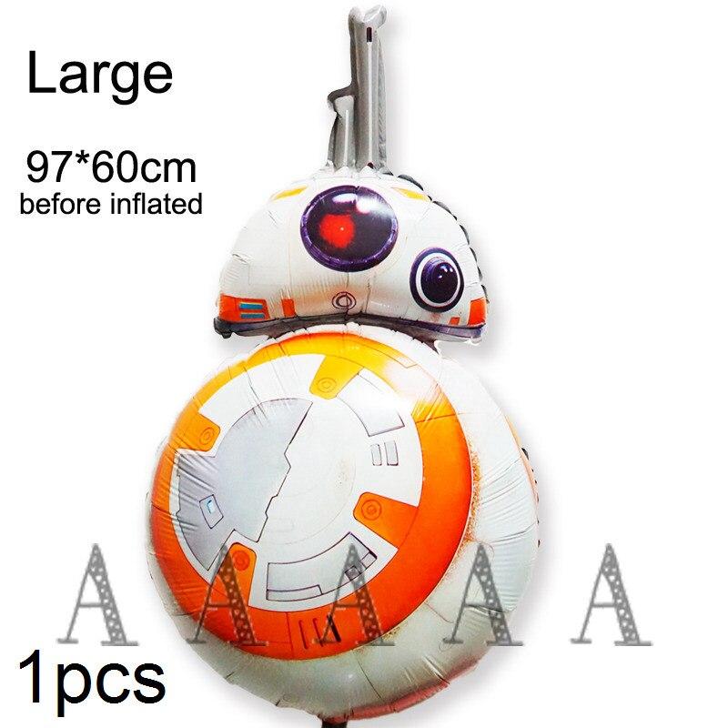 2 Pc 97*60 Cm Size Movie Star Wars Ballon De Kracht Wekt Bb8 Folie Ballonnen Gelukkige Verjaardag Party Robot Ballon Bekwame Productie
