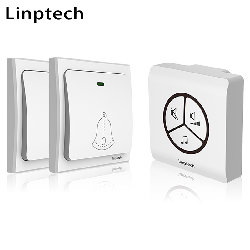 Linptech Linbell G1 self powered waterproof wireless doorbell smart home ding dong doorbell EU/US/UK plug 2 button 1 receiver семейные футболки ding dong 505 15