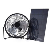Solar Panel Powered Fan 5.2W Mini USB Portable Fan Solar Power Phone Charger for Outdoor MC889