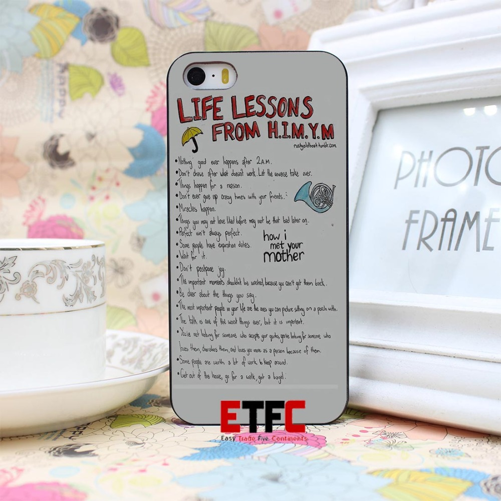 ETFC-183 How I Met Your Mother Design Hard Black Skin Case Cover for iPhone 4 4s 4g 5 5s 5g
