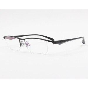 Image 5 - BCLEAR חדש גברים עסקי משקפיים מסגרת חצי רים מותג טיטניום סגסוגת קוצר ראייה משקפיים האולטרה אופנה כיכר מסגרות