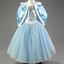 Kleid für Mädchen Elegante festliche Elsa Anna Sofia Prinzessin Mädchen kleider Hochzeit New Year Abend Kostüm Kleid mit Spitze Kap rot