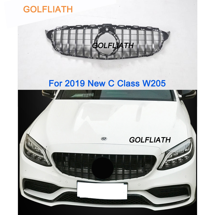 For new C Class W205 AMG GT R ABS Front Bumper Mesh Grill Grille For mercedes C180 C200 C260 C300 Sports 2019For new C Class W205 AMG GT R ABS Front Bumper Mesh Grill Grille For mercedes C180 C200 C260 C300 Sports 2019