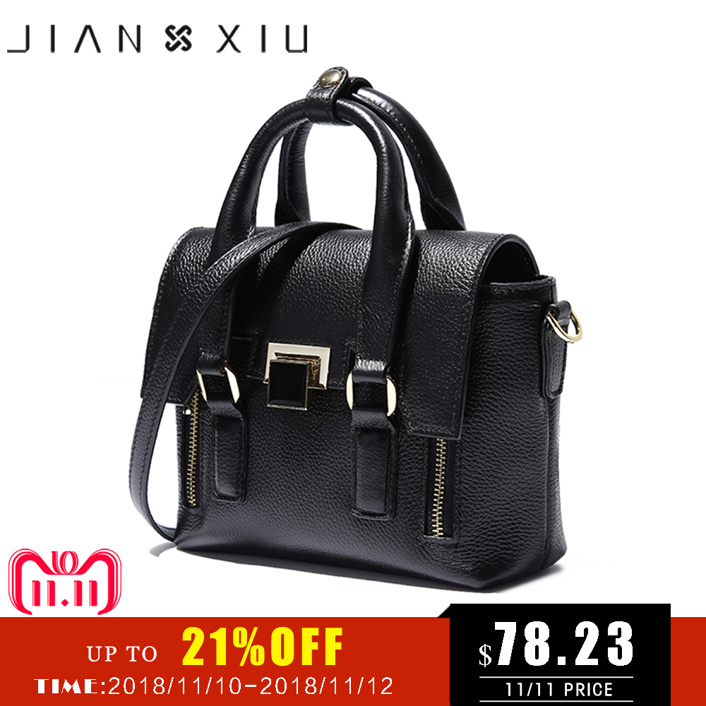 JIANXIU Brand Fashion Genuine Leather Bags Sac a Main Handbags Bolsos Mujer Bolsas Feminina Solid Color Shoulder Crossbody Bag доска разделочная gift n home кошки мышки стеклянная 20 х 30 см