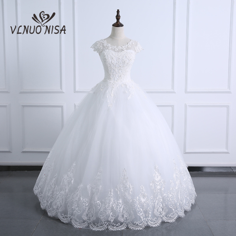 Fashion Ball Gown Real Images Vestido De Novia Big Embroidery Wedding Dress 2020with Pearls Bridal Robe De Marriage Appliques
