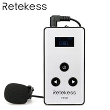 RETEKESS TT101 Wireless Audio Transmitter 195-230MHz For Tour Guide System 99 Channel Conference Language Interpretation System high end uhf 8x50 channel goose neck desk wireless conference microphones system for meeting room
