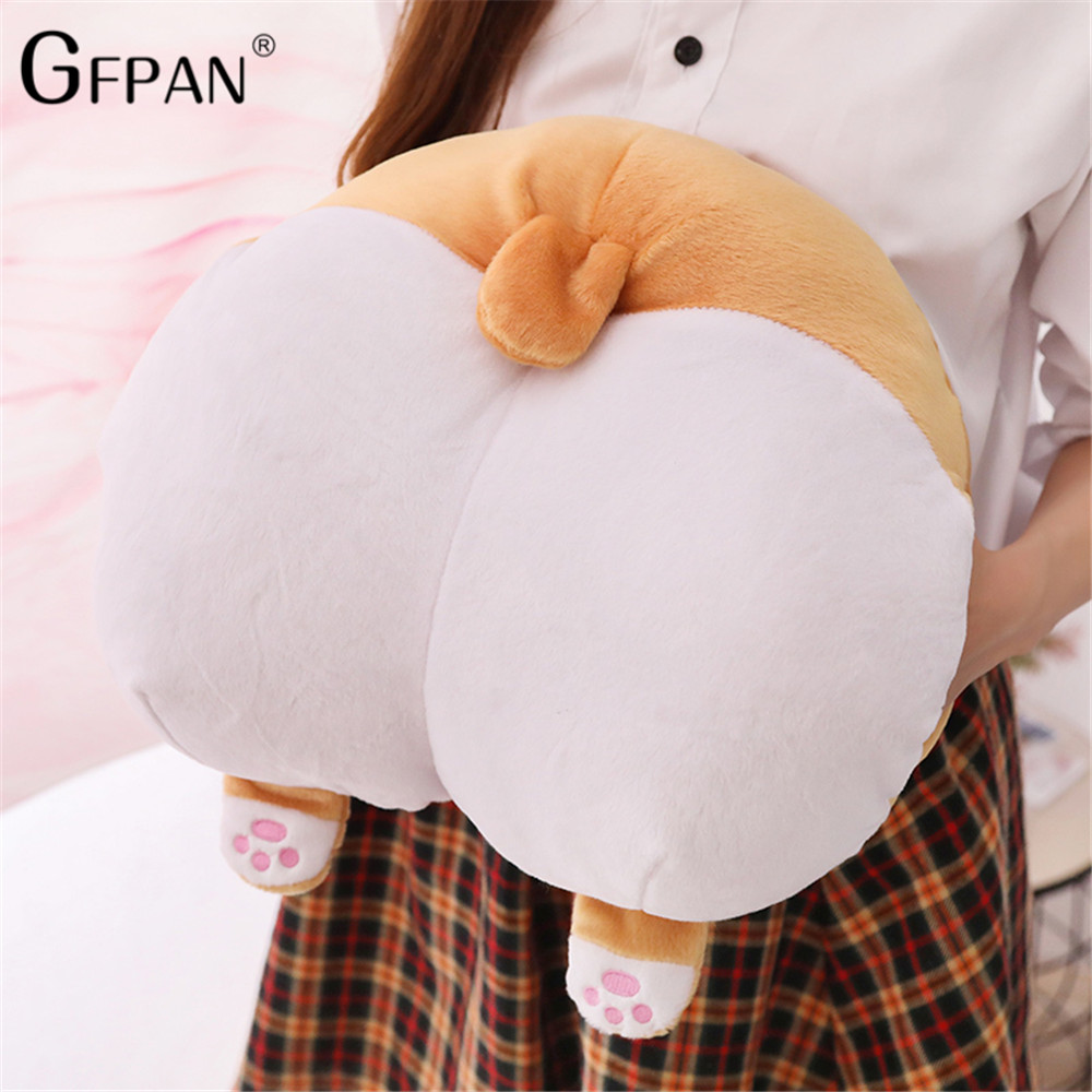 38cm/42cm cartoon corgi hip plush pillow hand warmer stuffed soft Bottom shape cushion warming hands Christmas Gift Brinquedos38cm/42cm cartoon corgi hip plush pillow hand warmer stuffed soft Bottom shape cushion warming hands Christmas Gift Brinquedos