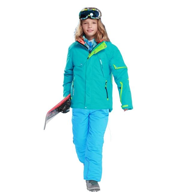 e7ff6f7a3052 new Winter Fleece Warm Ski Suit Boys Waterproof Mountain Skiing ...