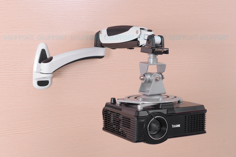 PR03B Aluminum Alloy 360 Degree Projector Wall Mount Full Motion Retractable Universal Projector Hanger Bracket