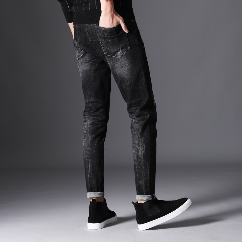 Brand 2017 New autumn winter fashion jeans men causal denim pants long trousers slim fit Brand Clothing full length hip hop mid men s cowboy jeans fashion blue jeans pant men plus sizes regular slim fit denim jean pants male high quality brand jeans