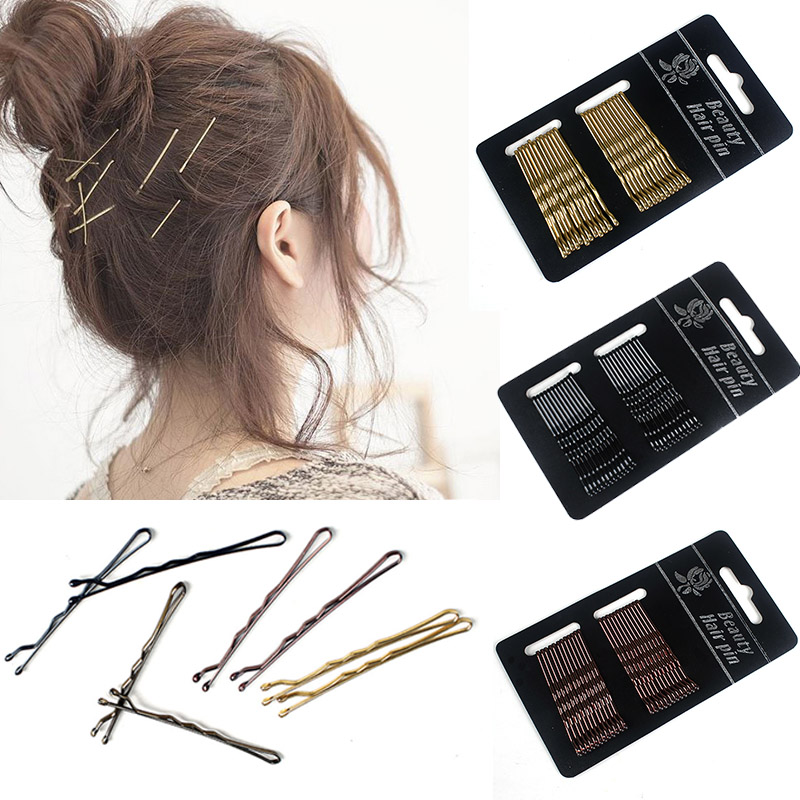 New Hairgrips Invisible Hair Clip Pins Barrette Hairpins Women Girl Black Styling Gloden Solid Simple Lady Accessories
