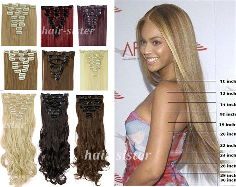 Super sale long real full head clip in on hair extensions 8pcs 26 long real full head clip in on hair extensions 8pcs 26 66cm straight black brown blonde auburn red salon finest on aliexpress alibaba group pmusecretfo Images