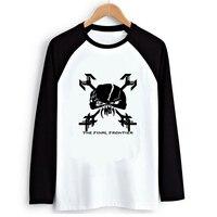 Iron Maiden The Final Frontier 2016 Autumn Mens Ink Graphic Print Raglan Long Sleeve T Shirt