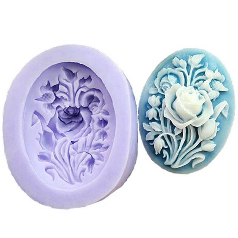 Peony Flower Shape Soap Silicone Mold Form DIY Fondant Cake Decorating Baking Tools Handmade Sugarcraft Candy Chocolate Molds