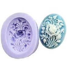 Peony Flower Shape Soap Silicone Mold Form DIY Fondant Cake Decorating Baking Tools Handmade Sugarcraft Candy Chocolate Molds