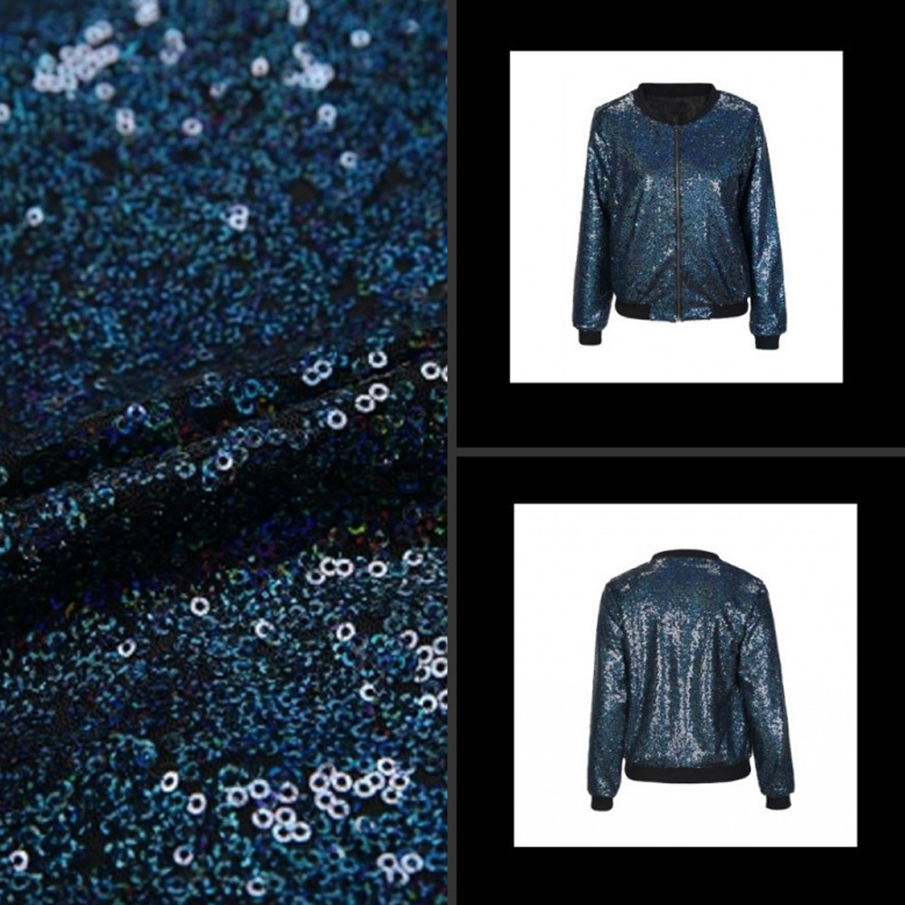 Sequined Loose Bomber Jacket 5