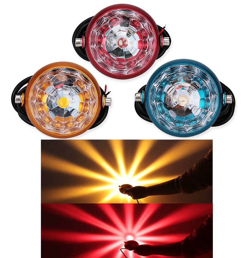 1Pcs Car Motorcycle Fog Lights Flasher Led chassis light Decorative Lights License Plate Led Motorbike Tail Flashers Lamps