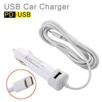 Usb + pd 36ワット充電iphone ipad android携帯電話旅行アダプター車の充電器でtyep-c usbケーブル(l = 200センチ)