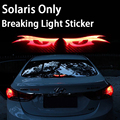 Car Styling Carbon Fiber Break Light Stickers Breaking Light For Hyundai Solaris Interior Car Accessories