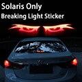 Estilo do carro De Fibra De Carbono Leve Pausa Adesivos Quebra Luz Para Hyundai Solaris Interior Acessórios Do Carro