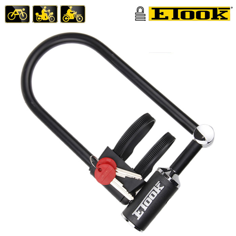ETOOK Anti Theft 4 Size Strong U Lock For Bike Security Electronic Car Bicycle Lock Steel Bicycle MTB Mountain Road Bike Lock все цены