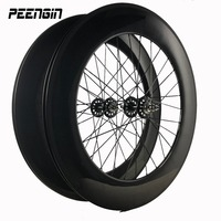 88mm carbon 25mm U shape track fixed gear single speed clincher bicycle wheel used Novatec/Powerway hub V brake&Disc compatiable