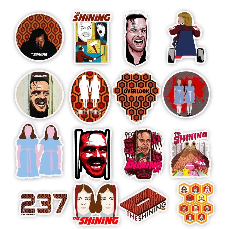 50 pcs Classic horror movies The Shining PVC Waterproof graffiti stickers DIY Refrigerator Skateboard Luggage Decoration Sticker in Fridge Magnets from Home Garden