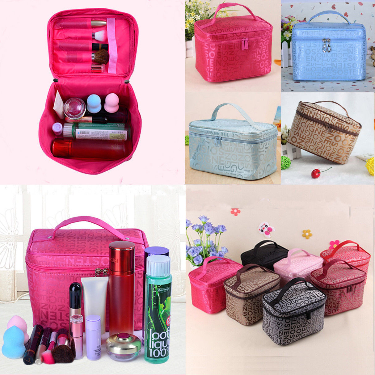 Large Professional Travel Cosmetic Storage MakeUp Bag Folding Hanging Toiletry Wash Organizer Zipper Pouch