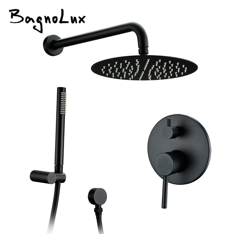 Ensemble de douche de salle de bain en laiton noir 8