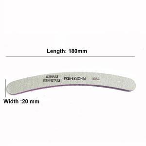 Image 2 - 50pcs Wholesale Grey Nail Art File 80/80 Grit Sanding Buffer Manicure Diagnostic Tools UV Gel Polisher Nail Files Lixa De Unha