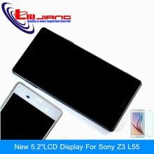 Nouveau Ecran lcd D'origine Pour Sony Xperia Z3 D6603 D6643 D6653 Écran Tactile Digitizer Assemblée avec Cadre Unique Sim