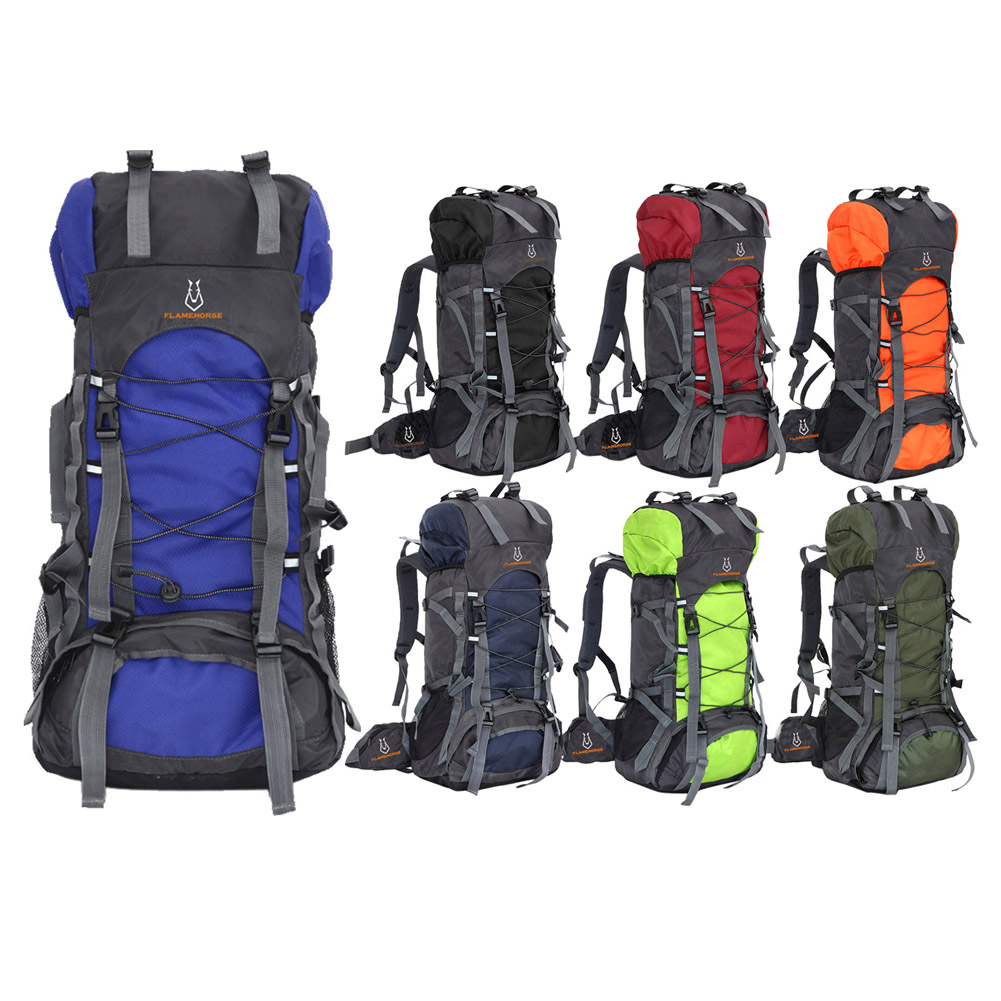 New Men and Women Nylon Waterproof Oxford Travel Bag Outdoor Mountaineering Bag Luggage Bag With Large Capacity 60L