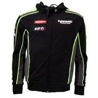 2016 autumn for Kawasaki Team Hoodies Sweatshirts Motocross Casual Sports Men's Zip up Hoody racing motorcycle jacket