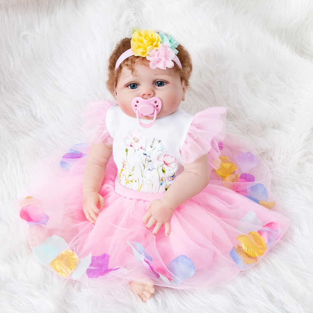 55cm Silicone Reborn Doll Baby Soft Lifelike Playmate Toys Toddler Girl Vinyl Princess Dolls Kids Birthday Christmas Gift55cm Silicone Reborn Doll Baby Soft Lifelike Playmate Toys Toddler Girl Vinyl Princess Dolls Kids Birthday Christmas Gift